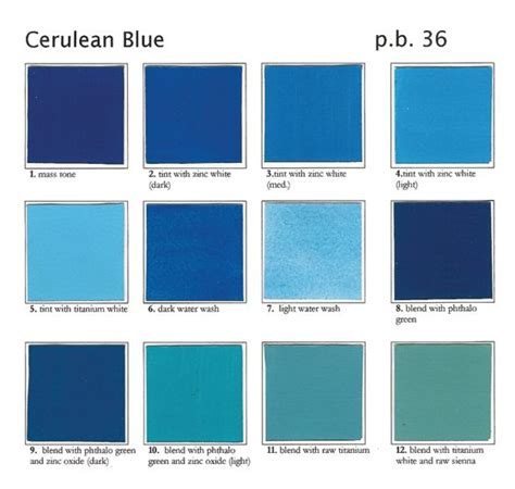 shades of blue color names cerulean blue shades ideas for heather s wedding