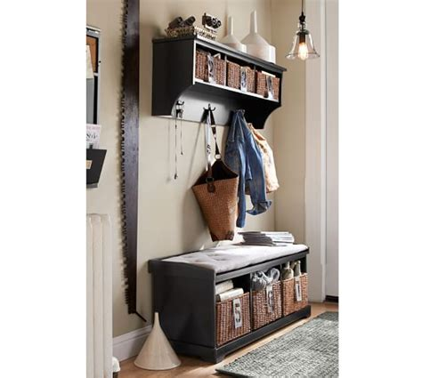 pottery barn entryway bench and shelf samantha bench shelf pottery barn