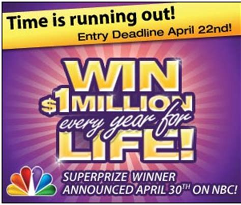 Pch Win 1 Million A Year For Life - win one million a year for life from pch hurry ends april 22