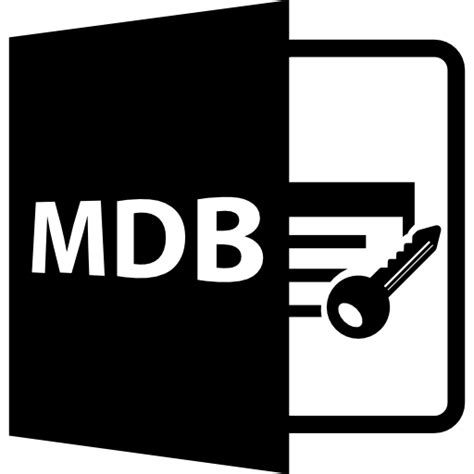 format file mdb mdb file format symbol free interface icons