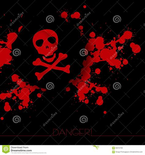 Is A Warning A Criminal Record Danger Warning Background Stock Vector Image 60313793