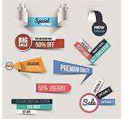 Creative Sale Sticker With Labels Design 01  Vector Label