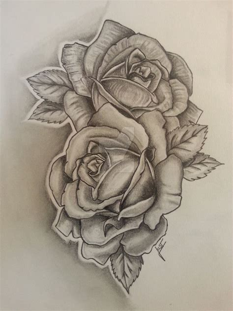 artistic rose tattoos 2 roses tattoodesign by drawing just flower