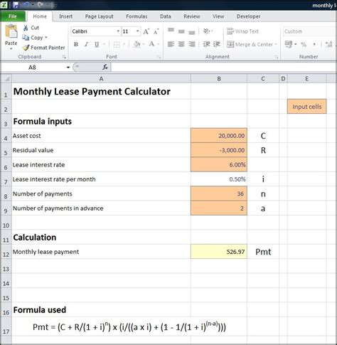 how to calculate house loan payment excel loan amortization schedule with residual value how