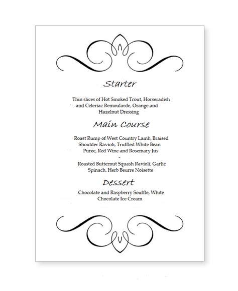3 course dinner menu gourmet menu brown goose