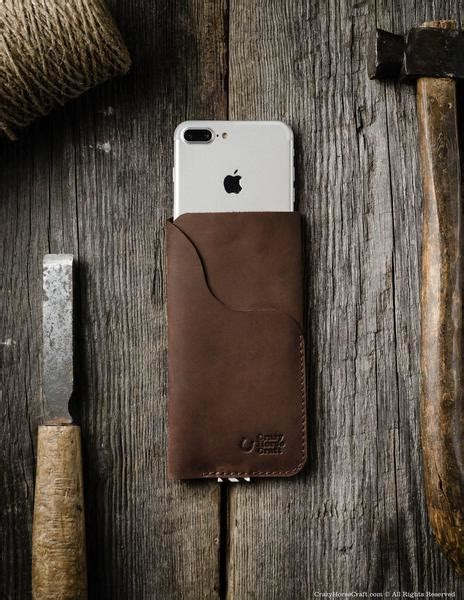 leather iphone  case wallet  card pocket crazy