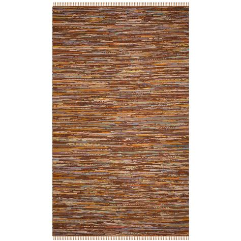 5 ft area rugs safavieh rag rug gold multi 5 ft x 8 ft area rug rar127n 5 the home depot