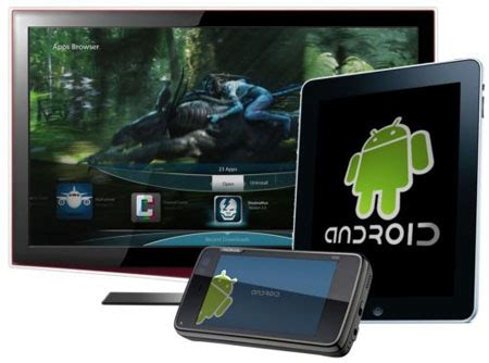 Tv Stand Gavril Myriad Unveils Vue Device Enabling Android Use On Tvs