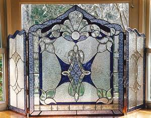 17 best ideas about stained glass fireplace screen on