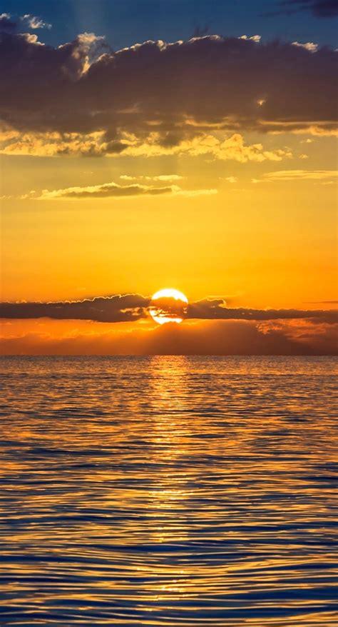 matahari terbenam  senja wallpapersc iphoneplus