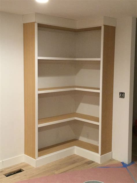 diy corner bookcase withheart