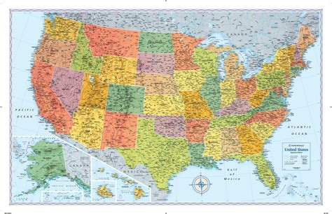 map of the s rand mcnally m series usa wall map maps