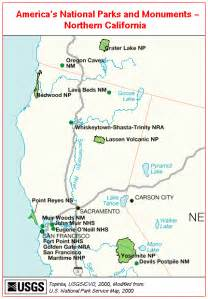 northern california s national park and monuments map