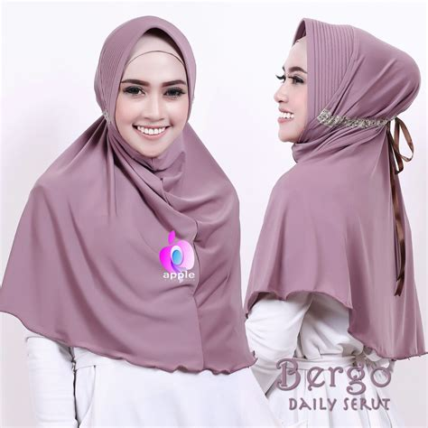 Kerudung Ori Turki Termurah 62 jual daily serut by apple toko jilbab branded instan kerudung terbaru