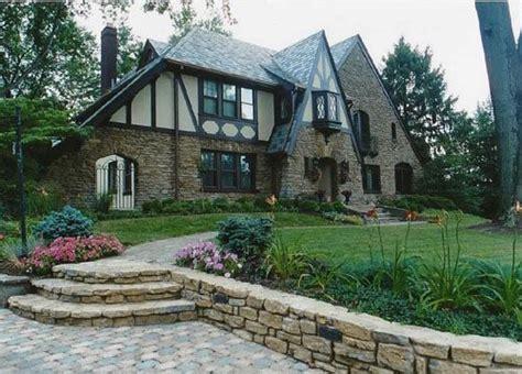 tudor elevation front yard landscaping classic style tudor fashion and tudor