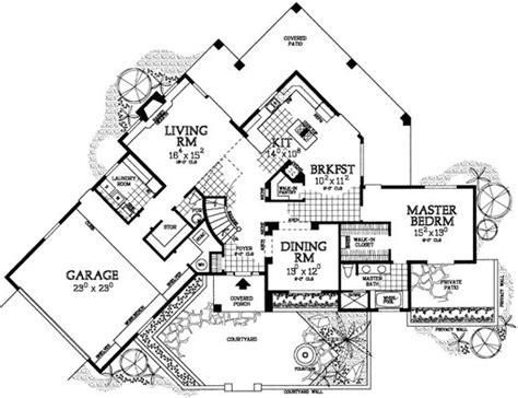 Southwest House Plans With Courtyard House Plans Home Design And Home On