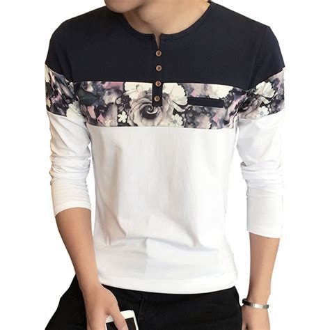 t shirt latest pattern men t shirt homme new design fashion flower print men s t