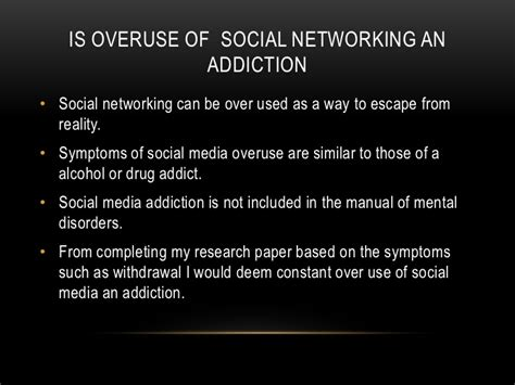 thesis about social media addiction social networking addiction presentation