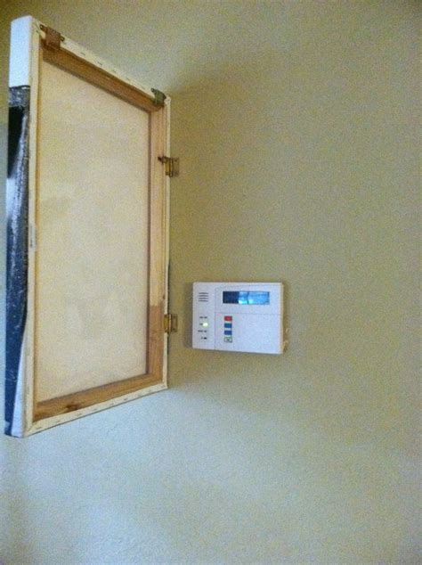 the third boob diy photo canvas alarm panel cover