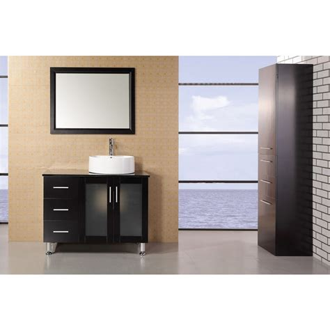 Modern Single Bathroom Vanity by Design Element Seabright 39 Quot Single Sink Modern Bathroom