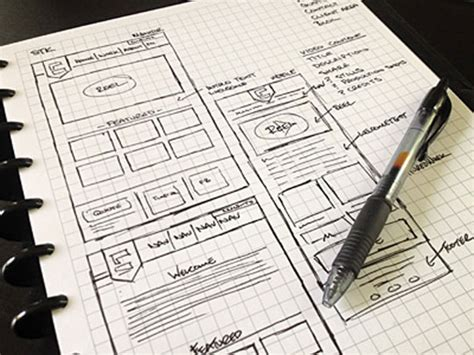 layout web sketch 30 great exles of web design sketches designbeep