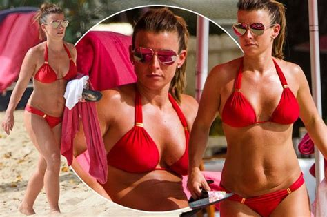 coleen rooney shows off her red hot bikini body in