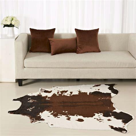 Dairy Cow Printed Carpet 130x150cm Velvet Imitation Animal Imitation Rugs