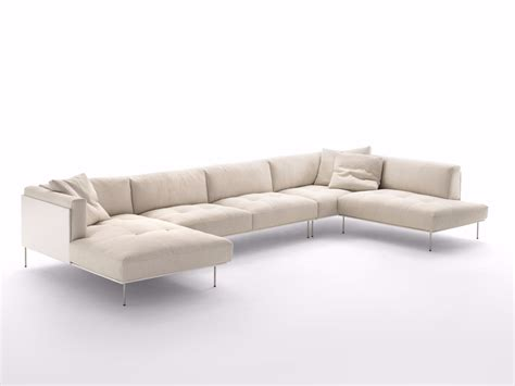 rod sectional sofa by living divani design piero lissoni