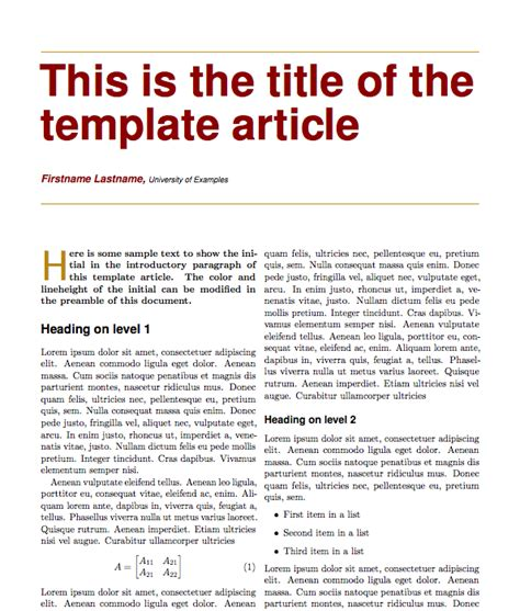 best photos of magazine article format template