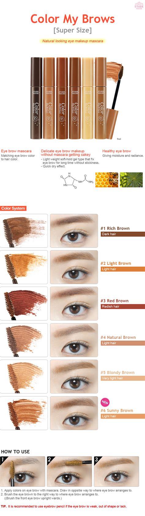 Q1 Etude House Color My Brow etude house color my brows size 6 color 9ml eye brow mascara ebay