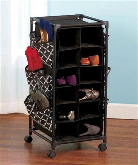 Rolling Storage Unit Fashion Design Damask Or Lattice Pattern Rolling Shoe