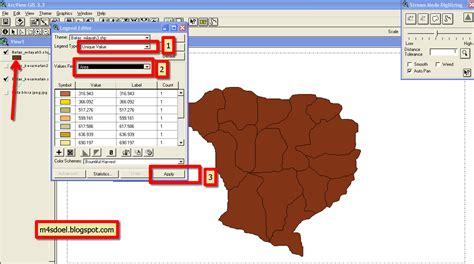 tutorial arcgis 9 3 español tutorial arcview gis 3 3 latihan cara membuat batas