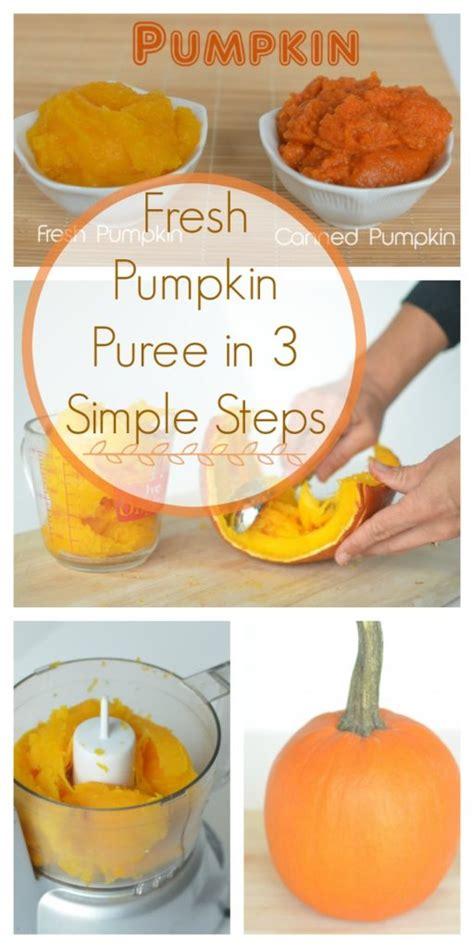 fresh pumpkin puree in 3 simple steps healthy ideas for kids