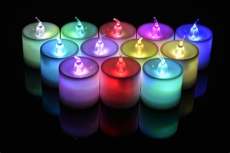 Battery Operated Candles That Change Colors by Large Rgb Color Changing Flameless Led Battery Operated