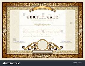 high school diploma certificate fancy design templates vintage certificate gold luxury ornamental frames stock