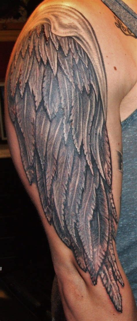 wing tattoo on forearm tattoos of wings arm grey ink wings