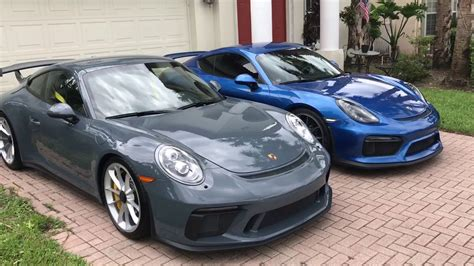porsche graphite blue gt3 2018 gt3 and 2016 gt4 youtube