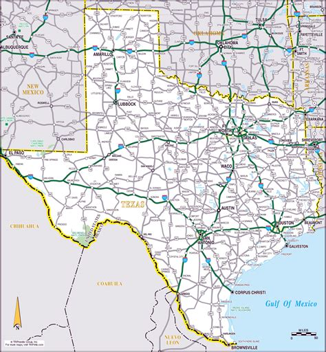 texas detailed map large roads and highways map of the state of texas vidiani maps of all countries in one
