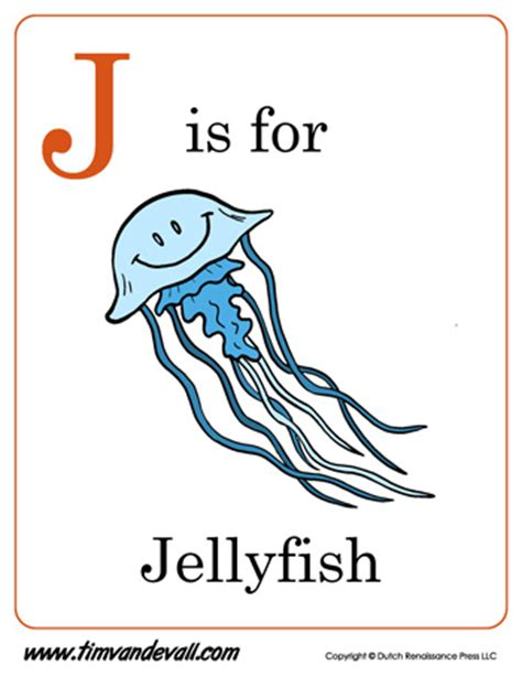printable ocean alphabet book j is for jellyfish letter j coloring page pdf