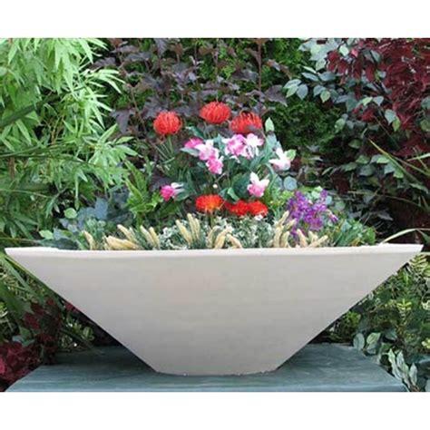 Garden Bowl Planter by Sandstone Tapered Planter Bowl Home Garden Pottery