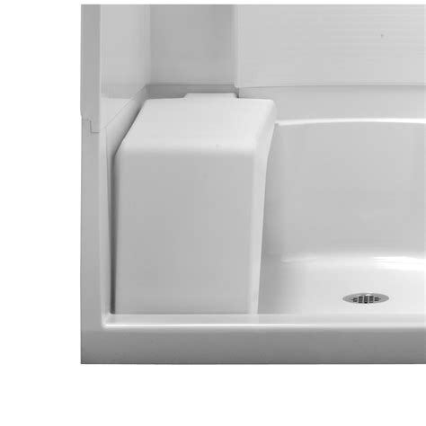 lowes shower bench shop sterling white plastic freestanding shower seat at