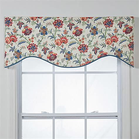 Contemporary Valances Chelsea Cotton Shaped Window Valance Contemporary