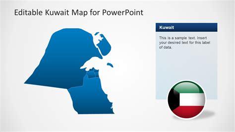 editable powerpoint templates editable kuwait powerpoint map template slidemodel