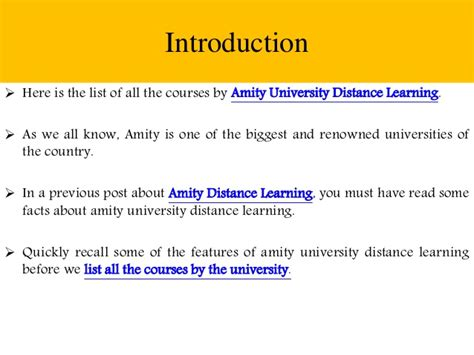 Amity Distance Mba Review by Amity Distance Learning List Of All Courses