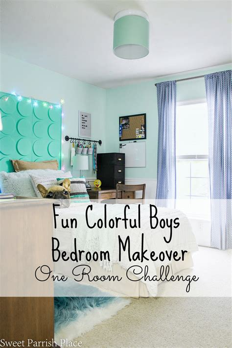 room challenge boys bedroom makeover reveal one room challenge sweet parrish place