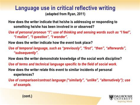 Critical Reflective Essay by Words To Use In A Reflective Essay