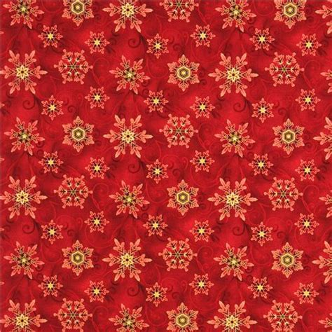 wallpaper christmas material red snowflake gold christmas fabric winter sanctuary