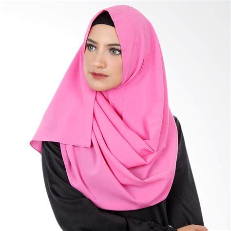 Kerudung Instant Lipit 2 jual cantik kerudung jilbab instant pink harga kualitas terjamin