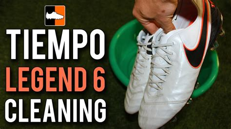 how to clean football shoes how to clean the nike tiempo legend 6 football boots white