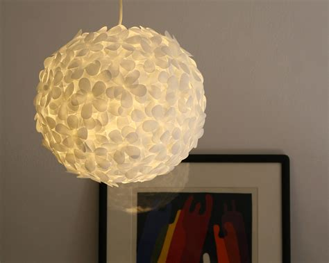 paper lantern light fixture white paper flower pendant light the 3 r s blog